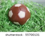 Cake shaped like soccer ball - stock photo