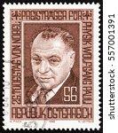 austria   circa 1983  a stamp... | Shutterstock . vector #557001391