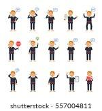 big set of martial artist... | Shutterstock .eps vector #557004811