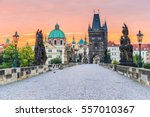 prague  czech republic. charles ... | Shutterstock . vector #557010367