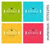 sale banners or labels vector...   Shutterstock .eps vector #557011951