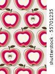 retro apple pattern | Shutterstock .eps vector #55701235