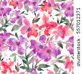watercolor seamless pattern... | Shutterstock . vector #557012371