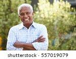smiling senior african american ... | Shutterstock . vector #557019079