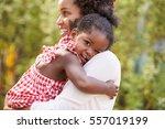 african american mother...   Shutterstock . vector #557019199