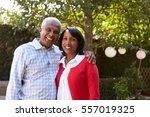 senior black couple in their...   Shutterstock . vector #557019325