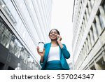 low angle shot of young elegant ... | Shutterstock . vector #557024347