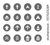 arrow design sign icons set... | Shutterstock .eps vector #557025289