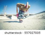 bboy doing some stunts  ... | Shutterstock . vector #557027035