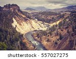 vintage toned canyon in... | Shutterstock . vector #557027275