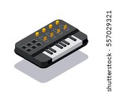 icon isometric dj synthesizer | Shutterstock .eps vector #557029321