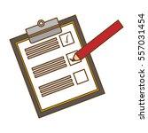 blank checklist on clipboard ...
