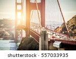 panoramic view of golden gate...   Shutterstock . vector #557033935