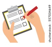 checklist with square cases... | Shutterstock .eps vector #557034649