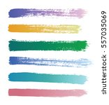 color vector strokes of paint... | Shutterstock .eps vector #557035069