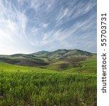 Slope Grassy On Sicilian...
