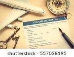 custom declaration form on a... | Shutterstock . vector #557038195
