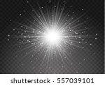 glow light effect. star burst... | Shutterstock .eps vector #557039101