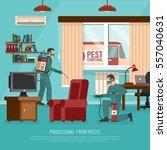 professional interior pest... | Shutterstock .eps vector #557040631