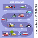 road accident infographic...   Shutterstock .eps vector #557040889