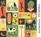 india  vector flat illustration ...   Shutterstock .eps vector #557040961