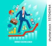 successful businessman symbolic ...   Shutterstock .eps vector #557040964