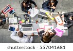 successful business team in a... | Shutterstock . vector #557041681