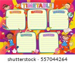school timetable schedule ... | Shutterstock .eps vector #557044264