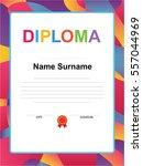 kids diploma certificate... | Shutterstock .eps vector #557044969
