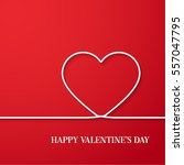 happy valentines day card.... | Shutterstock .eps vector #557047795