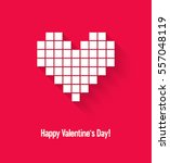 valentines day card with... | Shutterstock .eps vector #557048119