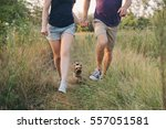 couple running together. sport... | Shutterstock . vector #557051581