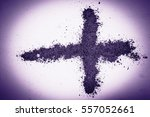 cross made of ashes  ash... | Shutterstock . vector #557052661