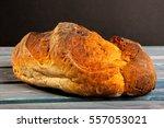freshly baked traditional bread ... | Shutterstock . vector #557053021