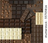 chocolate bars - stock photo