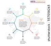 business infographics. octagon... | Shutterstock .eps vector #557058265