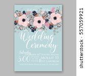 wedding invitations with... | Shutterstock .eps vector #557059921
