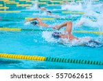 swimming in the pool is not... | Shutterstock . vector #557062615