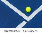 tennis ball on the corner of... | Shutterstock . vector #557062771