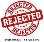 rejected. stamp. red round... | Shutterstock .eps vector #557065291