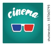 points for cinema in a flat... | Shutterstock .eps vector #557065795