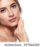 beauty woman face portrait.... | Shutterstock . vector #557066284