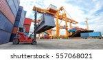 industrial container cargo... | Shutterstock . vector #557068021