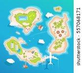 islands top aerial view  ... | Shutterstock .eps vector #557068171