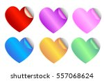 heart sticker  | Shutterstock .eps vector #557068624