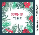 summer time tropical... | Shutterstock .eps vector #557074861