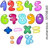 Colorful Bubble Shaped Numbers...