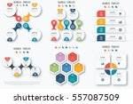 set with infographics. data and ...   Shutterstock .eps vector #557087509