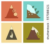 assembly flat icons mountains... | Shutterstock .eps vector #557088121