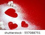 sugar heart and small sugar...   Shutterstock . vector #557088751